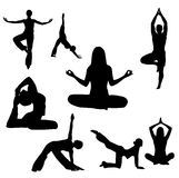 De vectorillustratie van de yoga Royalty-vrije Stock Afbeelding