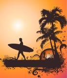 De vectorillustratie van de zomer Stock Afbeelding