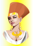De vectorillustratie van Egyptische tsarina. Stock Afbeeldingen