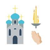 De vectorillustratie van godsdienstpictogrammen Royalty-vrije Stock Foto