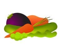 De vectorillustratie van groenten Royalty-vrije Stock Afbeeldingen