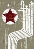 De vectorillustratie van Grunge met rode ster Royalty-vrije Stock Foto's