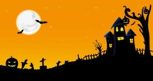 De vectorillustratie van Halloween Stock Foto's