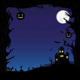 De vectorillustratie van Halloween Stock Afbeelding
