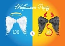 De vectorillustratie van Halloween - Halloween-partij Stock Afbeeldingen