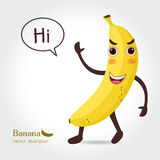 De Vectorillustratie van het banaanbeeldverhaal Royalty-vrije Stock Foto