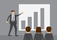 De Vectorillustratie van het bedrijfspresentatiebeeldverhaal Stock Afbeelding