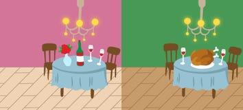 Van het achtergrond huis Valentijnskaart en dankzegging Royalty-vrije Illustratie