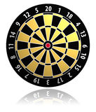 De vectorillustratie van het dartboard Stock Foto's