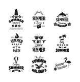 De vectorillustratie van het de zomerembleem Stock Afbeeldingen
