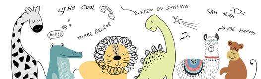 De vectorillustratie van het dierenbeeldverhaal vector illustratie