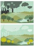 De Vectorillustratie van het ecologieconcept voor Stock Foto's