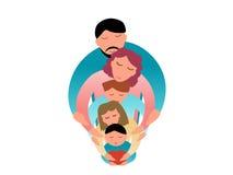 De vectorillustratie van het familieconcept Royalty-vrije Stock Foto's