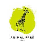 De vectorillustratie van het girafembleem Stock Afbeeldingen