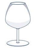 De VectorIllustratie van het Glas van de wijn Stock Fotografie