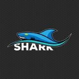 De Vectorillustratie van het haaiembleem royalty-vrije stock afbeeldingen