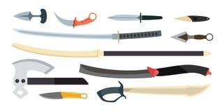De vectorillustratie van het Knifeswapen Royalty-vrije Stock Fotografie