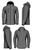 De vectorillustratie van het mensen softshell jasje vector illustratie