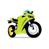 De vectorillustratie van het Motorfietsbeeldverhaal Stock Afbeelding