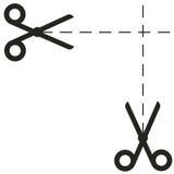 De vectorillustratie van het schaarpictogram Stock Fotografie