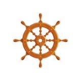 De Vectorillustratie van het schipstuurwiel Royalty-vrije Stock Afbeeldingen