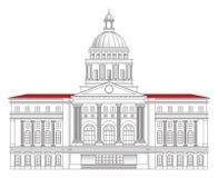 De vectorillustratie van het stadhuis Royalty-vrije Stock Fotografie
