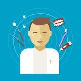 De vectorillustratie van het tandartsberoep Stock Afbeelding