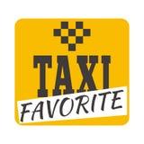 De vectorillustratie van het taxikenteken Royalty-vrije Stock Afbeelding