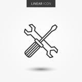 De vectorillustratie van het technische ondersteuningpictogram royalty-vrije illustratie