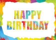 De vectorillustratie van het verjaardagsmalplaatje Stock Foto's