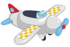 De vectorillustratie van het vliegtuig vector illustratie