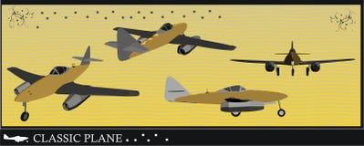 De vectorillustratie van het vliegtuig Stock Foto