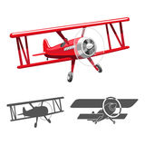 De vectorillustratie van het vliegtuigembleem Royalty-vrije Stock Afbeeldingen
