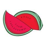 De vectorillustratie van het watermeloenfruit Stock Foto