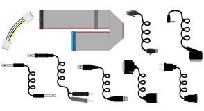 De vectorillustratie van kabels Stock Foto's