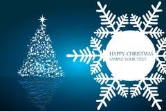 De vectorillustratie van Kerstmis met tekst Royalty-vrije Stock Afbeelding
