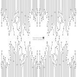 De vectorillustratie van de kringsraad Abstracte technologie Eps 10 Royalty-vrije Stock Afbeelding
