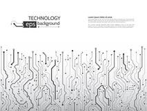 De vectorillustratie van de kringsraad High-tech technologiebackgrou Vector Illustratie