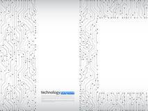 De vectorillustratie van de kringsraad High-tech technologiebackgrou Stock Illustratie
