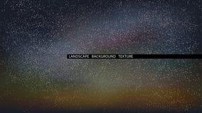 De vectorillustratie van de landschaps sterrige nacht Noordelijke lichten royalty-vrije illustratie