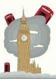 De vectorillustratie van Londen Stock Foto
