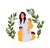 De vectorillustratie van de moedersdag stock foto