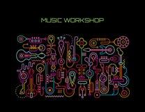 De vectorillustratie van de muziekworkshop Royalty-vrije Stock Foto