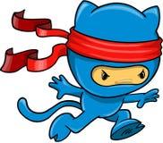 De VectorIllustratie van Ninja van de kat Royalty-vrije Stock Afbeeldingen