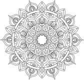 De vectorillustratie van overzichts overladen mandala Stock Afbeelding