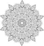 De vectorillustratie van overzichts zwart-wit mandala Royalty-vrije Stock Foto
