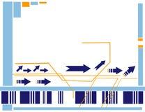 De vectorillustratie van pijlen Royalty-vrije Stock Foto's