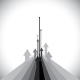 De vectorillustratie van pijlen die sommige winnaars tonen en sommigen verliezen Stock Afbeeldingen
