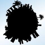 De vectorillustratie van planeetsingapore Royalty-vrije Stock Afbeeldingen