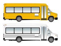 De vectorillustratie van Schoolbus Stock Foto's